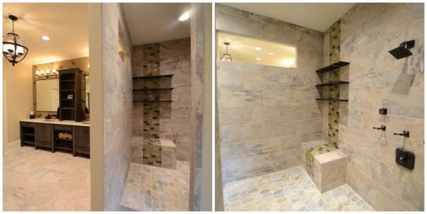 Master Bathroom Showers Without Doors Shower Door Or Curtain Www Elderbranch Com